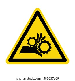 Hand hazard sign. Danger Sign hand hazard turn off power. stock vector, illustration