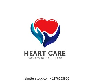 hand Heart care logo