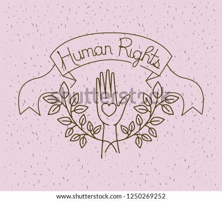 Hand Heart Human Rights Drawns Stock Vector Royalty Free