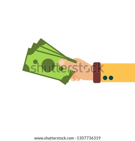 Hand hold cash money