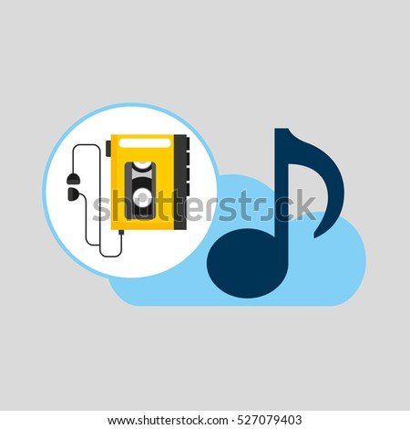 Hand Hold Note Music Cloud Music Stock Image | Download Now