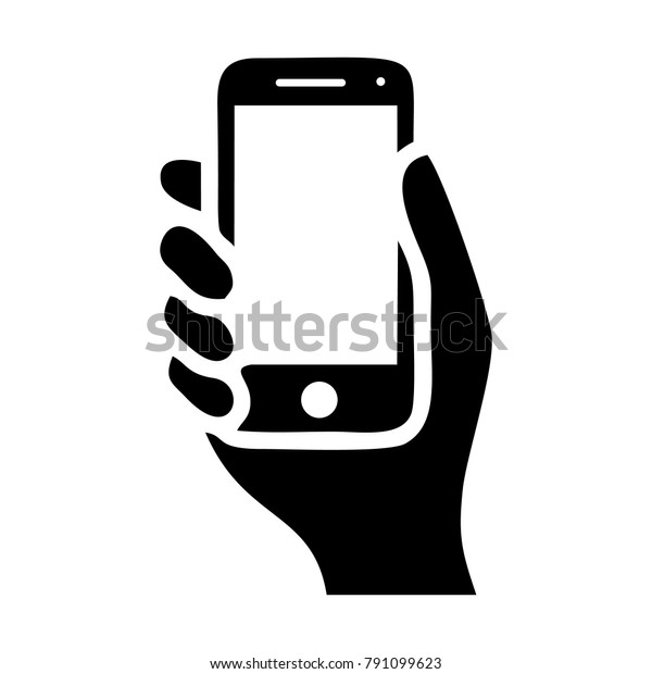 hand hold the smartphone