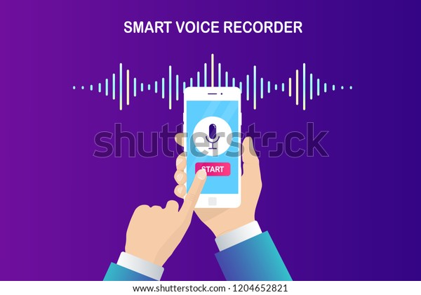 Hand Hold White Mobile Phone Smartphone Stock Vector (Royalty Free