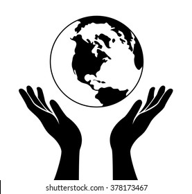 hand hold the world