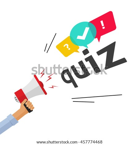 Awesome Hand Holding Bullhorn Shouting Quiz Text Stock Vector Royalty Free Wiring Digital Resources Aeocykbiperorg