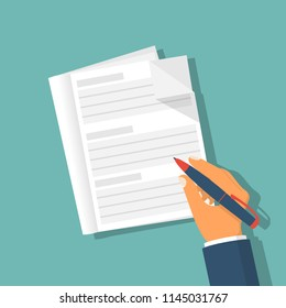 Hand holding pencil and notebook prepare to writing close up. Vector illustration flat design. Notepad isolated on background. Taking notes. To do list empty. Place for notes.