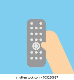 hand holding remote control.vector illustration
