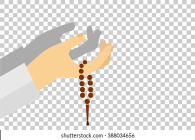 Hand - Holding Tasbih