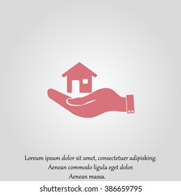 hand and House vector