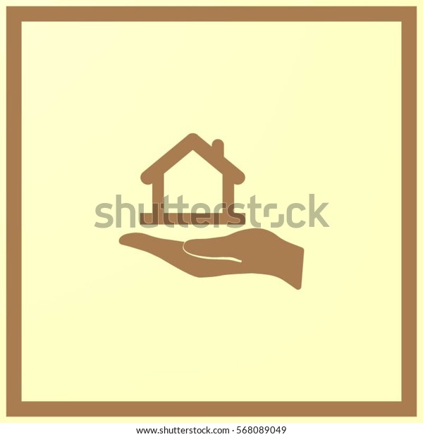 hand and House vector icon