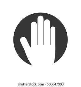hand human isolated icon vector illustration design