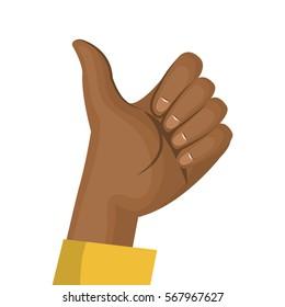 hand human like isolated icon