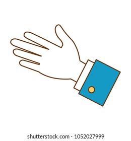 hand human palm icon