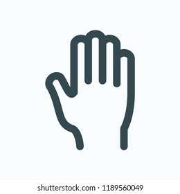 Hand icon. Hand care vector icon