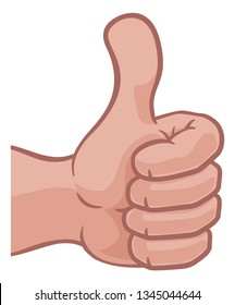 A hand icon or cartoon emoji doing a thumbs up gesture