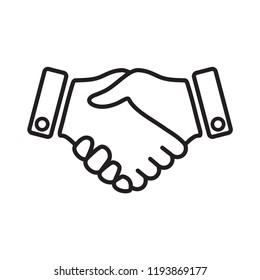 hand icon, handshake icon in trendy flat design