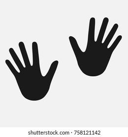 Hand icon. Human hand silhouette. Vector illustration