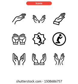 hand icon isolated sign symbol vector illustration - Collection of high quality black style vector icons