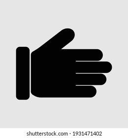hand icon isolated vector illustration