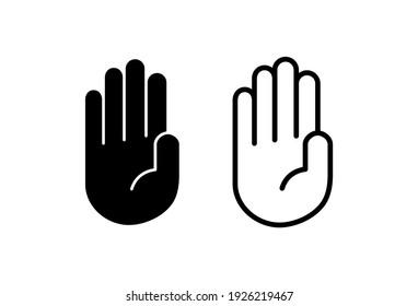 Hand icon set. hand vector icon, palm