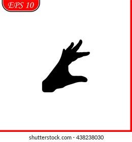 Hand icon. Simple illustration.