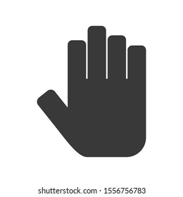 Hand icon in simple vector style