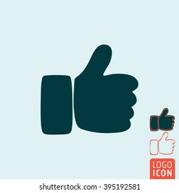 Hand icon. Hand symbol. Thumb up icon isolated. Vector illustration