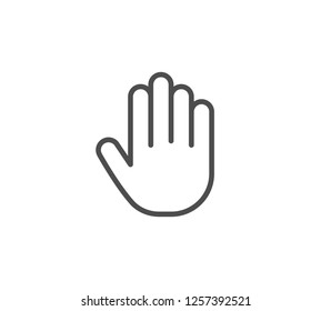 Hand icon . Vector . EPS 10