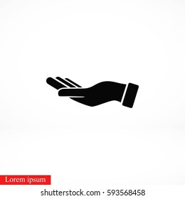 Hand icon vector, flat design best vector icon