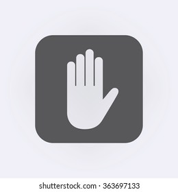 Hand icon . Vector illustration