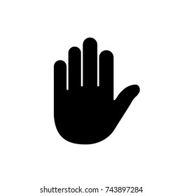 hand icon, hand icon vector, in trendy flat style isolated on white background. hand icon image, hand icon illustration