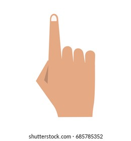 hand with index finger up icon image
