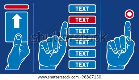 Hand Inserting Card Into Machine Finger Stock Vector (Royalty Free