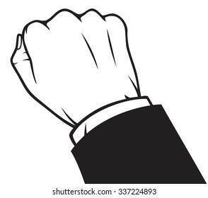 hand knocking on doors