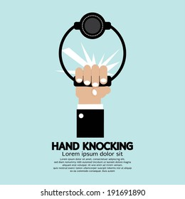 Hand knocking Vector Illustration