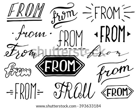 554f1be29b19 Hand lettered ampersand and catchwords. Collection of hand drawn  catchwords. Modern handwritten calligraphy and