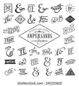 hand lettered ampersands and catchwords