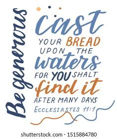 Cast Your Bread Upon Water Images Stock Photos Vectors Shutterstock