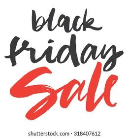 Hand lettering. Black Friday sale.