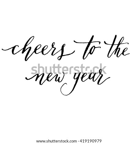 Hand Lettering Cheers New Year Vector Stock Vector (Royalty Free ...