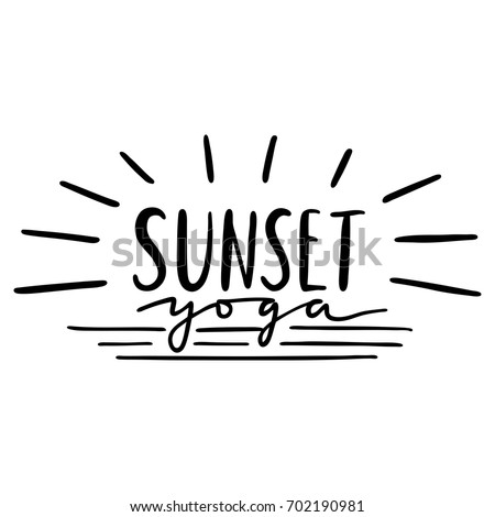 Hand Lettering Inscription Sunset Yoga About Stock Vector Royalty