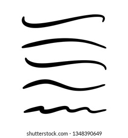 hand lettering lines, brush lines vector