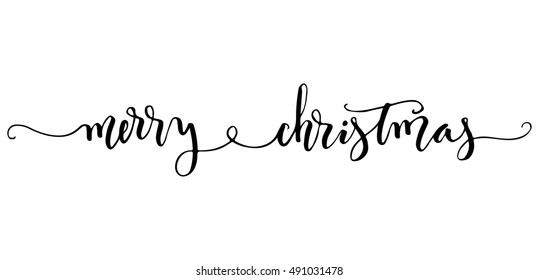 Christmas Calligraphy.Merry Christmas Handwriting Images Stock Photos Vectors