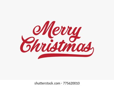 Hand lettering Merry Christmas text, Calligraphic Lettering template, Creative typography for Holiday Greeting Gift Card. Calligraphy Font