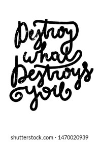 Hand lettering positive inspirational quote, calligraphy vector illustration