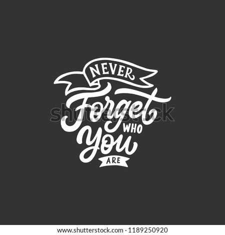 Hand Lettering Typography Quotes Motivation Life Stock Vector