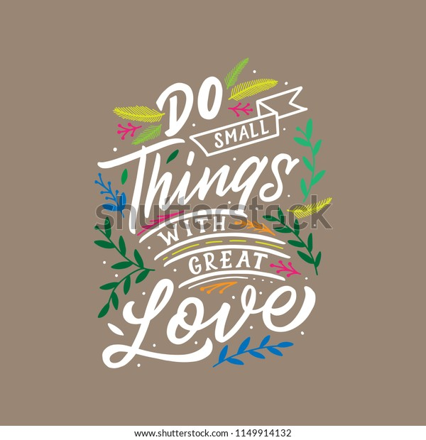 hand lettering typography quotes motivation life stock image