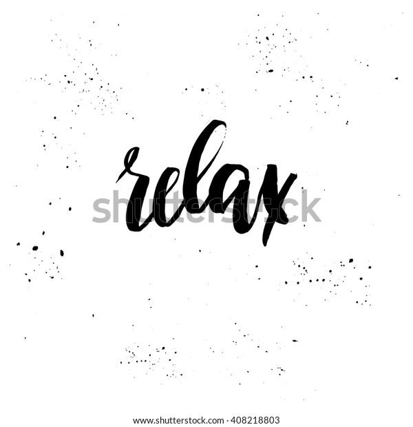 Handschrift Vektorgrafik Entspannen Sie Sich Ideal Für