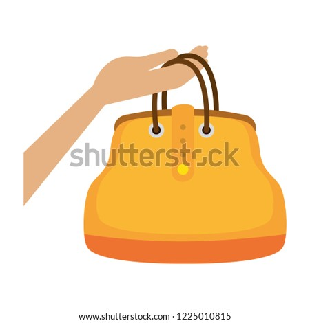 Hand Lifting Fashion Feminine Handbag Stock Vector (Royalty Free ... 4a30c1fcd4