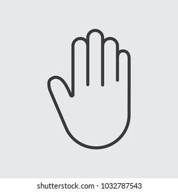 Hand line icon